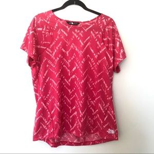 North Face Pink T Shirt XL